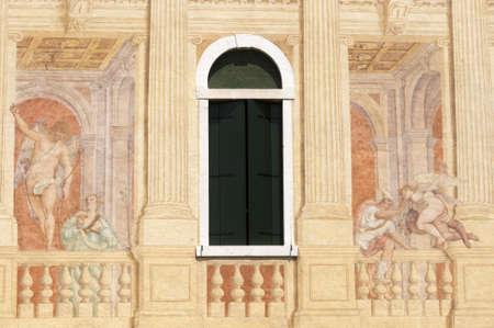 16th: Riviera del Brenta (Veneto, Italy) - Villa Soranzo (16th century) with frescos by Benedetto Caliari (1538-1598) Editorial