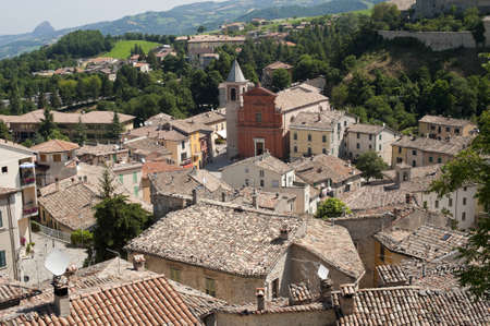 Pennabilli, Montefeltro (Urbino, Marches, Italy), view of the old town photo