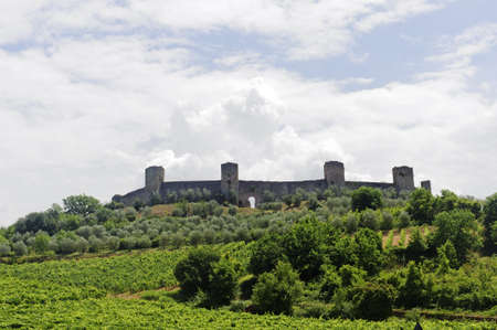 Monteriggioni (Siena, Tuscany, Italy), historic fortificated town