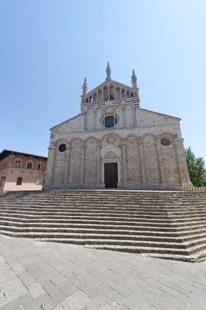 massa: Massa Marittima (Grosseto, Tuscany, Italy), Facade of the Duomo Stock Photo