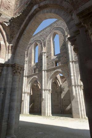 San Galgano (Siena, Tuscany, Italy), the famous open basilica photo