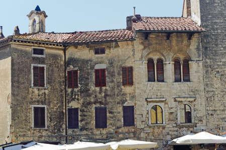 massa: Massa Marittima (Grosseto, Tuscany, Italy), ancient palace facade