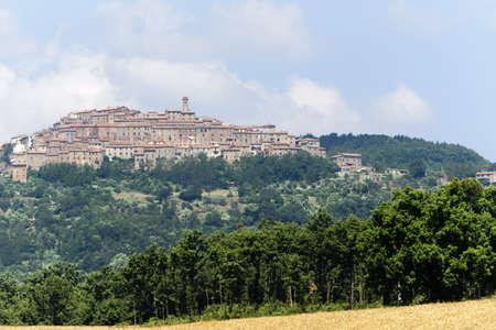 Chiusdino (Siena, Tuscany, Italy), panoramic view at summer photo