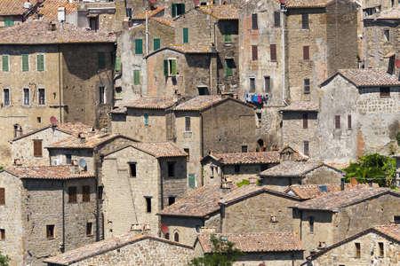 ソラーノ (グロッセート, トスカーナ, イタリア)、中世の街のパノラマ ビュー