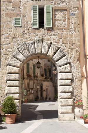 Sorano (Grosseto, Tuscany, Italy), entrance through arch