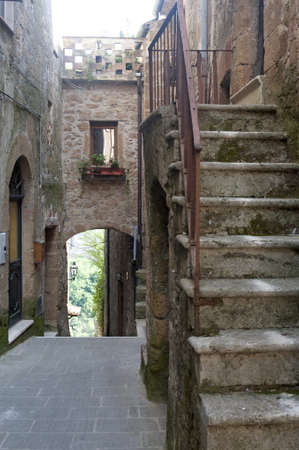 Pitigliano (Grosseto, Tuscany, Italy), old typical street