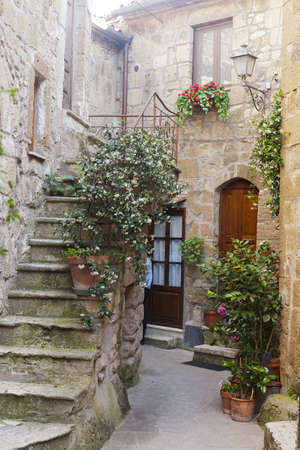 city alley: Pitigliano (Grosseto, Tuscany, Italy), old typical house