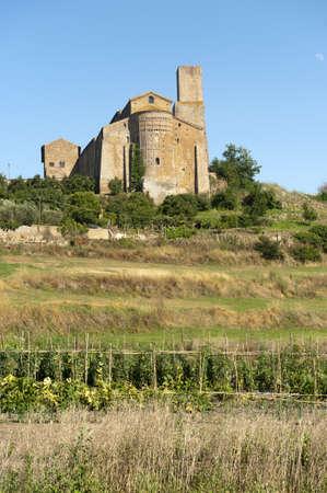 tuscania: Tuscania (Viterbo, Lazio, Italy) - Medieval church of San Pietro, apse Stock Photo