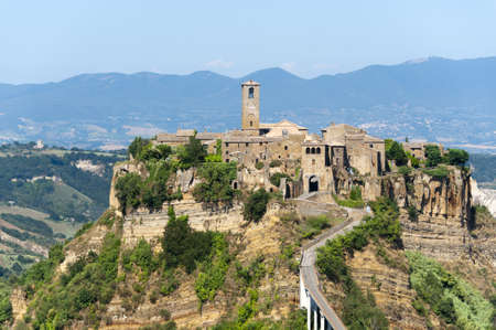 Civita di Bagnoregio (Viterbo, Lazio, Italy(, the historic village surrounded by calanques
