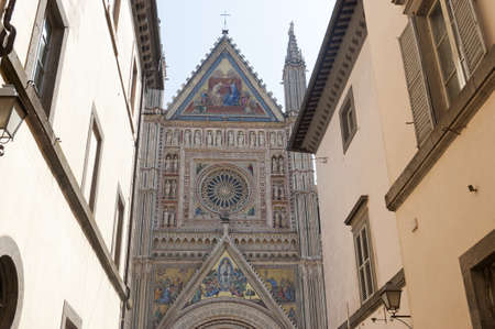Medieval cathedral of Orvieto (Perugia, Umbria, Italy), facade Stock Photo - 12299149
