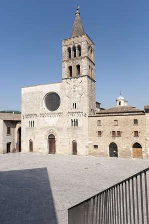 bevagna: Historic Silvestri square in Bevagna (Perugia, Umbria, Italy), with church