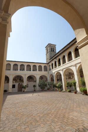 bevagna: Court of ancient palace in Bevagna (Perugia, Umbria, Italy)
