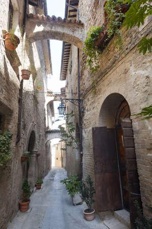 bevagna: Old street in Bevagna (Perugia, Umbria, Italy)