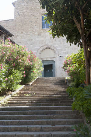 bevagna: Ancient church in Bevagna (Perugia, Umbria, italy) Stock Photo