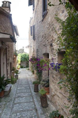 spello: Spello (Perugia, Umbria, Italy), old typical street