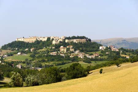 Panoramic view of Camerino (Macerata, Marches, Italy) at summer photo