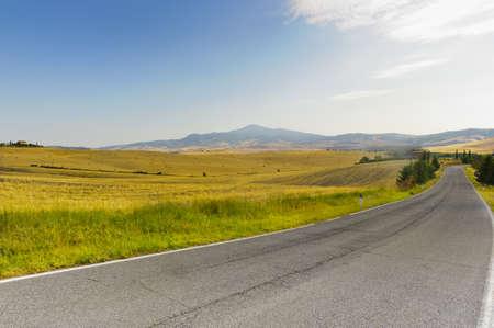 val dorcia: Landscape in Val dOrcia (Siena, Tuscany, Italy) at summer