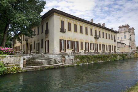 Naviglio Grande (Milan, Lombardy, Italy) - Villa Gaia, ancient palace on the canal Stock Photo - 12819231