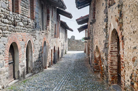 Ricetto of Candelo (Biella, Piedmont, Italy) - Typical street in the medieval village