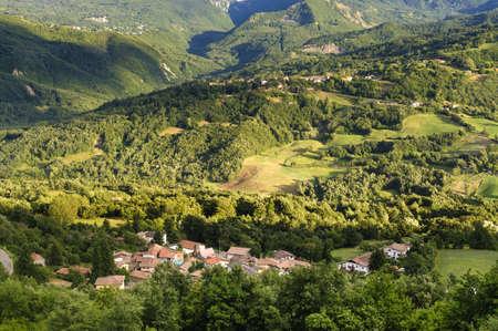 appennino: Landscape from the Passo di Pradarena, on the Appennino Tosco-Emiliano (Emilia-Romagna, Italy), at summer