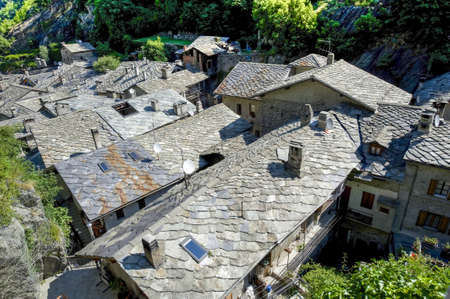 bard: Bard  Aosta, Italy  - Panorama of the medieval village