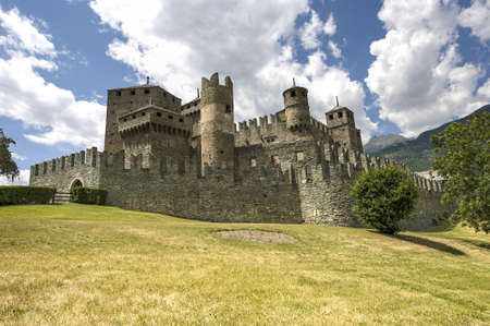 The medieval Castle of Fenis (Valle d'Aosta, Italy) Stock Photo - 13315981