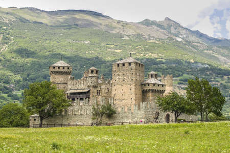 aosta: The medieval Castle of Fenis (Valle dAosta, Italy) Editorial