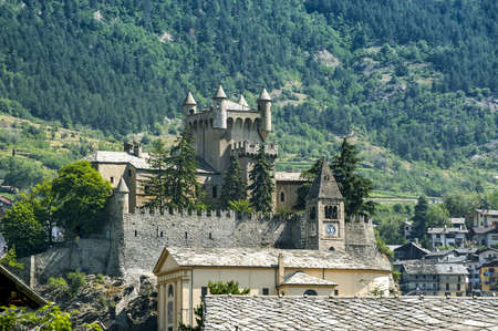 Saint-Pierre (Aosta, Italy) - The castle and church photo