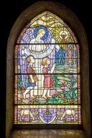 ポン-デ-Beauvoisin (サヴォワ、フランス、ローヌ ・ アルプ) - ステンド グラスに聖クレメント教会