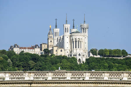 Lyon (Rhone-Alpes, France) - View of an ancient church on the hill