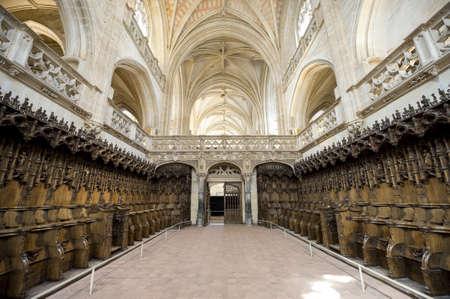Bourg-en-Bresse (Ain, Rhone,-Alpes, France) - Ancient church of Brou: choir Stock Photo - 13715451