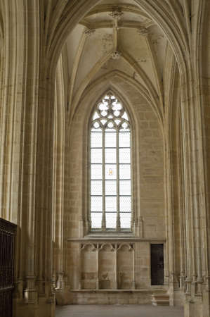 Bourg-en-Bresse (Ain, Rhone,-Alpes, France) - Ancient church of Brou: interior Editorial