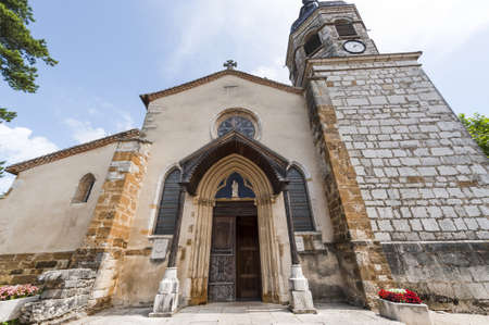 Treffort (Ain, Rhone-Alpes, France) - Facade of the ancient church Stock Photo - 13755924