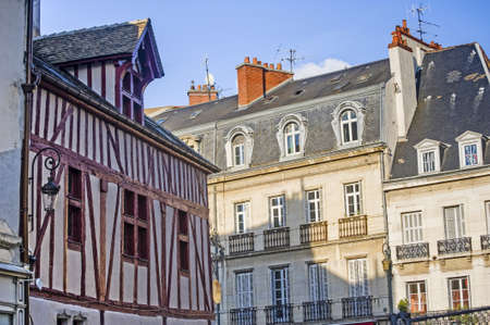 Dijon (Cote-dOr, Burgundy, France) - Exterior of ancient buildings Stock Photo