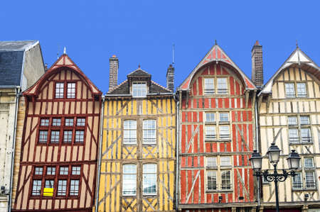 Troyes (Aube, Champagne-Ardenne, France) - Ancient half-timbered buildings photo