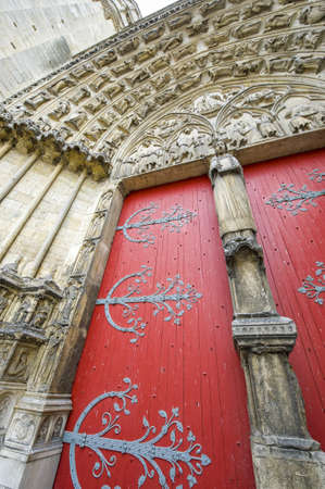 sens: Sens (Yonne, Burgundy, France) - Exterior of the Saint-Etienne cathedral, in gothic style