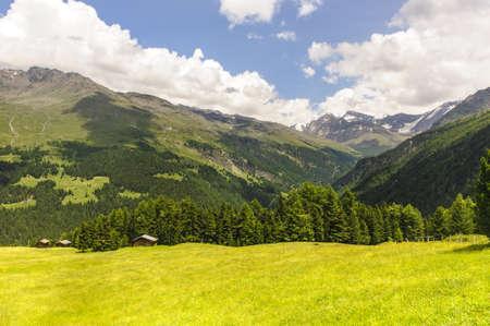 gavia: The mountains of Passo Gavia  Alps, Lombardy, Italy  at summer Stock Photo
