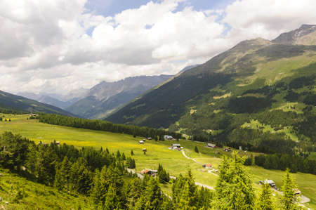 The mountains of Passo Gavia  Alps, Lombardy, Italy  at summer Stock Photo