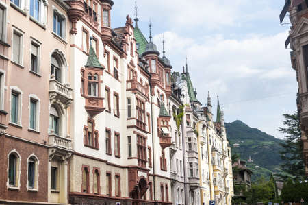 Old buildings in Bolzano  Trentino Alto Adige, Italy