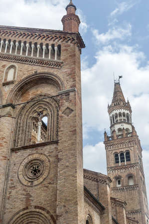 crema: Duomo of Crema (Cremona, Lombardy, Italy), medieval monument Stock Photo