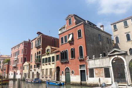 Venice (Venezia, Veneto, Italy), a typical canal with boats Stock Photo - 15081545