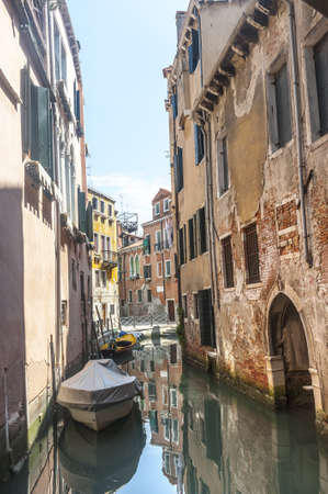 Venice (Venezia, Veneto, Italy), a typical canal and boats Stock Photo - 15137670