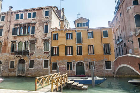 Venice (Venezia, Veneto, Italy), old typical buildings and a canal Stock Photo - 15137488
