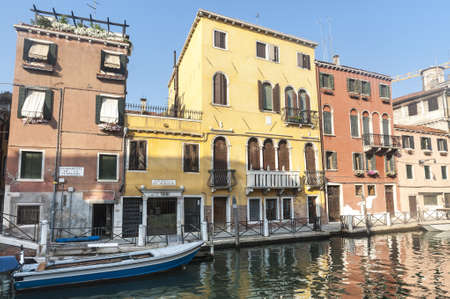 Venice (Venezia, Veneto, Italy), old typical buildings on a canal and boats Stock Photo - 15203752