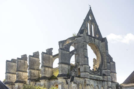 Abbey of Longpont (Aisne, Picardie, France)  - Ruins of the abbey church photo