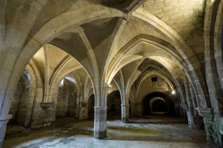 Abbey of St-Jean-des-Vignes in Soissons (Aisne, Picardie, France) , arcade