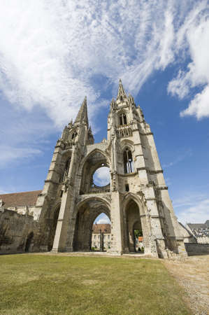 Abbey of St-Jean-des-Vignes in Soissons (Aisne, Picardie, France) , ruins photo