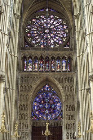 Reims (Marne, Champagne-Ardenne, France) - Interior of the cathedral in gothic style.