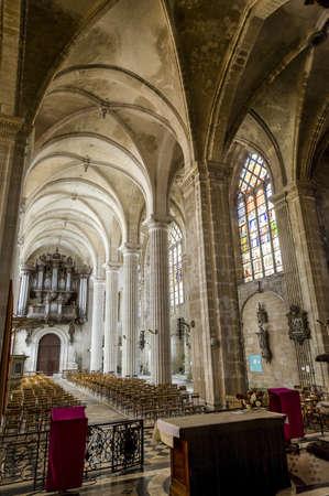 meuse: Saint-Mihiel (Meuse, Lorraine, France) - Interior of the ancient Saint-Michel church