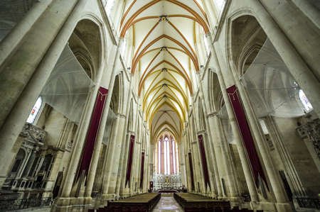 Toul (Meurthe-et-Moselle, Lorraine, France) - Interior of the ancient cathedral in gothic style
